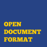 OpenDocument as standard!